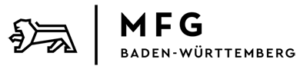 Löwe und Schriftzug der MFG Baden-Württemberg