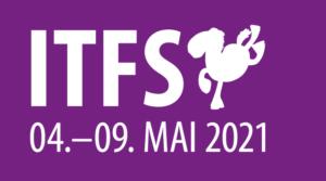 Der weiße Schriftzug des Internationalen Trickfilm-Festival Stuttgart vom 4.-9. Mai 2021